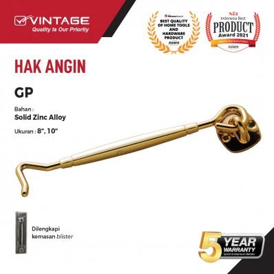 HAK ANGIN / PENAHAN JENDELA ZINC ALLOY GOLD VINTAGE