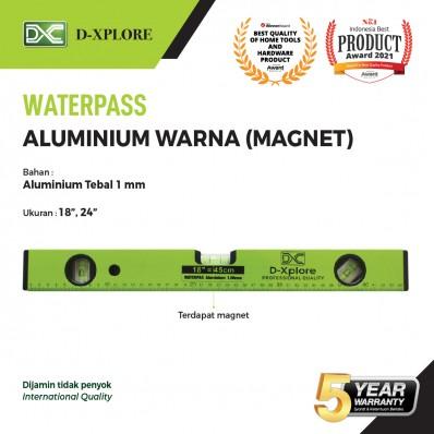 WATERPASS ALUMINIUM WARNA 1MM MAGNET D-XPLORE