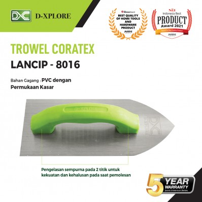 CETOK SEMEN TROWEL CORATEX LANCIP D-XPLORE