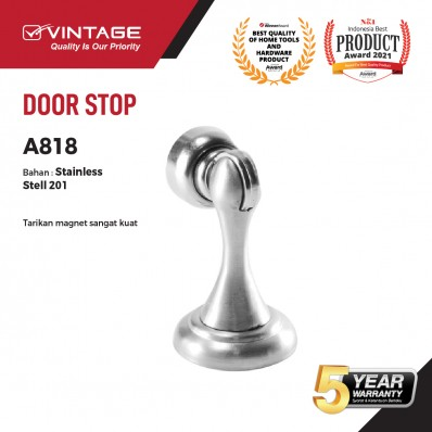 DOOR STOP / PENAHAN PINTU STAINLESS STEEL 818A VINTAGE