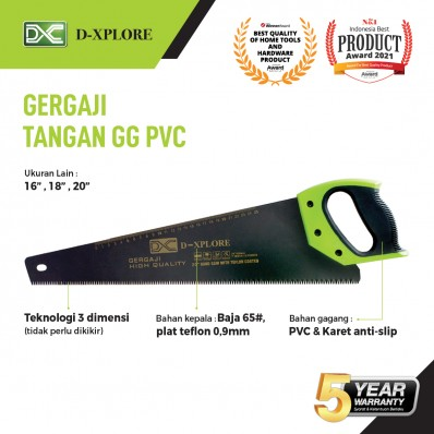 GERGAJI TANGAN GAGANG PVC D-XPLORE
