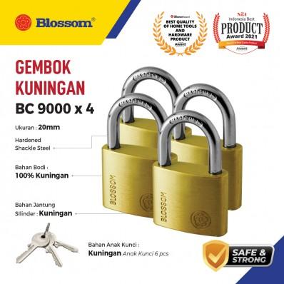 GEMBOK KECIL KUNINGAN 20MM X 4 BLOSSOM