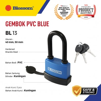 GEMBOK PAGAR PVC BLUE PANJANG BLOSSOM