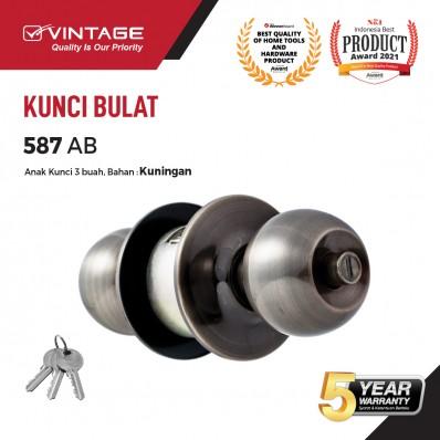 GAGANG PINTU BULAT STAINLESS STEEL VINTAGE 587