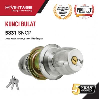 GAGANG PINTU BULAT STAINLESS STEEL VINTAGE 5831