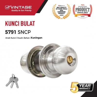 GAGANG PINTU BULAT STAINLESS STEEL VINTAGE 5791