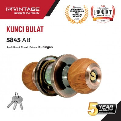GAGANG PINTU BULAT STAINLESS STEEL VINTAGE 5845 (PB/W2, AC/W3)