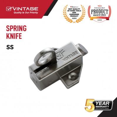 SPRING KNIFE / SLOT JENDELA SILVER VINTAGE