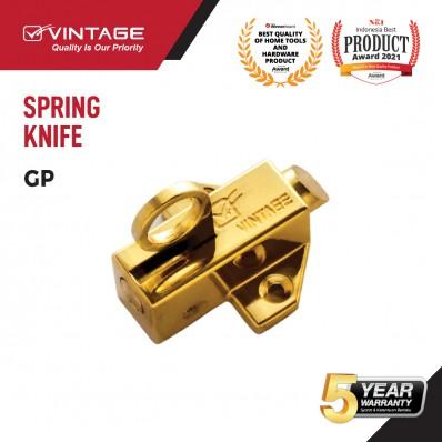 SPRING KNIFE / SLOT JENDELA GOLD VINTAGE